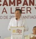 """Afirma el Gobernador Cuitláhuac que el Programa """"Aprendo a leer y escribir"""" se abatirá el analfabetismo"""