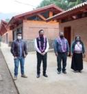 Construyen jóvenes de Atlahuilco su plantel para de la universidad del bienestar «Benito Juárez»